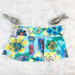Victoria's Secret Tropical Floral Swim Skirt Sz M